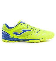 Joma Liga 5 Turf - scarpa da calcio terreni duri, Lime/Blue