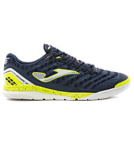 Joma Super Regate Indoor - scarpe da calecetto indoor, Dark Blue/Yellow