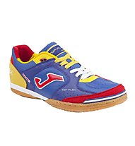 Joma Top Flex Scarpe Calcetto Indoor, Blue/Yellow/Red