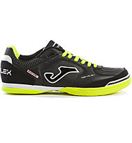 Joma Top Flex Indoor - scarpa da calcio indoor, Black/Yellow