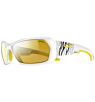 Julbo Dirt - Fahrradbrille, White/Zebra/Yellow
