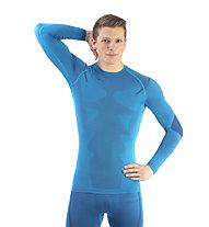 Kaikkialla Aatami - maglietta tecnica alpinismo - uomo, Light Blue/Blue