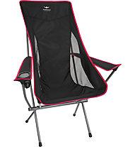 Kaikkialla Folding Chair Comfort - sedia da campeggio, Black/Red