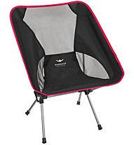 Kaikkialla Folding Chair Small - sedia da campeggio, Black/Red