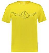 Kaikkialla Juhani - Kurzarm-Shirt Bergsport - Herren, Yellow