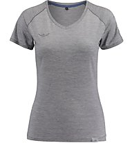 Kaikkialla Maaria Shirt Damen T-Shirt Kurzarm, Grey
