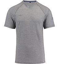 Kaikkialla Mainio Wool Shirt Herren T-Shirt Kurzarm, Grey