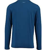 Kaikkialla Matias T-shirt Herreshirt Langarm, Blue