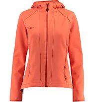 Kaikkialla Milja - Giacca in pile con cappuccio trekking - donna, Orange