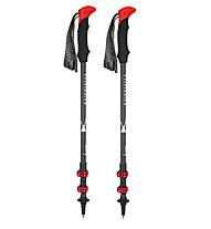 Kaikkialla Mountain Carbon Flick Lock - Trekkingstöcke, Black/Red