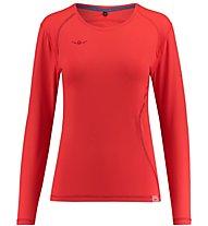 Kaikkialla Tea L/S Shirt Woman - langärmeliges Wander- und Trekkingshirt Damen, Red