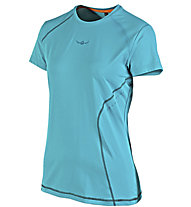 Kaikkialla Tea -T-Shirt trail running - donna, Light Blue