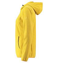 Kaikkialla Tiia Fleece - Fleecejacke mit Kapuze - Damen, Yellow