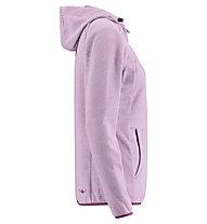 Kaikkialla Tiia Fleece - Fleecejacke mit Kapuze - Damen, Pink