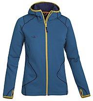 Kaikkialla Tiia giacca pile con cappuccio donna, Maroccan Blue
