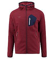 Kaikkialla Timo - giacca con cappuccio trekking - uomo, Red