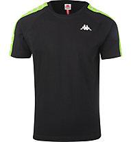 Kappa 222 Banda Coen Slim - T-shirt - Herren, Black/Green
