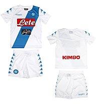Kappa Neapel Replica Komplet für Kinder (Neapel Fußballtrikot + Neapel Fußballhose), White