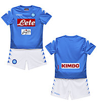 Kappa Kombat Kit Napoli - Fußball-Komplet Shirt und Short - Kinder, Light Blue/White