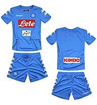 Kappa Kombat Kit Replica Napoli Completo calcio bambino/ragazzo, Light Blue