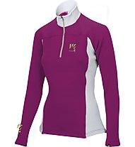 Karpos Cristallo 2 W Jersey - maglia a maniche lunghe donna, Melograno/Grey