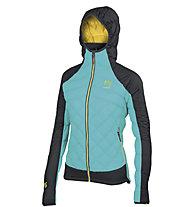 Karpos Lastei active Plus - giacca con cappuccio trekking - donna, Light Blue