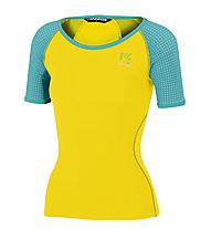 Karpos Lavaredo W Jersey - T-shirt - donna, Yellow/Blue