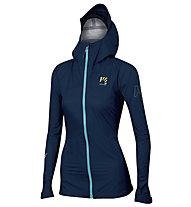 Karpos Lot Rain W - giacca con cappuccio - donna, Blue
