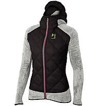 Karpos Marmarole - giacca ibrida in pile - donna, Black/White/Pink