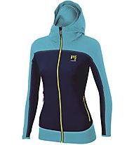 Karpos Parete W - giacca con cappuccio - donna, Blue/Light Blue