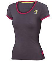 Karpos Profili Lite W - T-shirt trekking - donna, Dark Grey/Pink