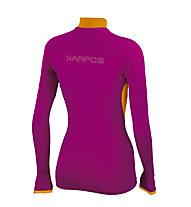 Karpos Rise maglia a manica lunga con zip donna, Dance Floor/Melograno/Orange