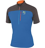 Karpos Roccia Zip Jersey -  kurzärmeliges Wander- und Bergsportshirt Herren, Blue