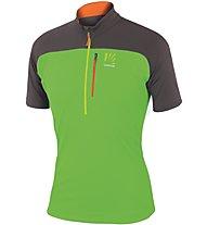 Karpos Roccia Zip Jersey T-Shirt Trekking, Green
