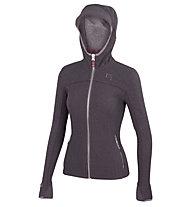Karpos Stua W - giacca con cappuccio - donna, Dark Grey