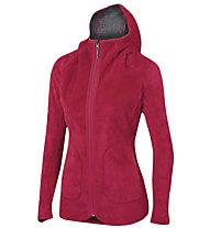 Karpos Talvena - giacca in pile con cappuccio - donna, Grey/Pink