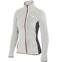 Karpos Vertice - Fleecejacke Skitouren - Damen, White/Grey/Pink