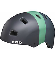 KED 5Forty - casco bici, Black/Green
