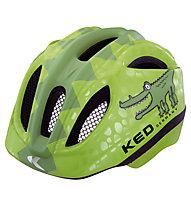 KED Meggy Rescue/Reptile - casco bici - bambino, Green Coco