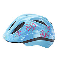 KED Meggy Trend Blue Flower - Fahrradhelm - Kinder, Light Blue