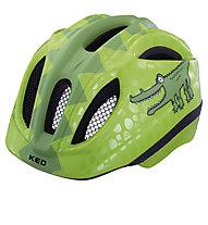KED Meggy Trend Kinder-Fahrradhelm, Green Croco