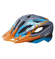 KED Street Jr. Pro - Radhelm - Kinder, Grey/Orange