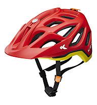 KED Trailon - casco bici, Red/Yellow