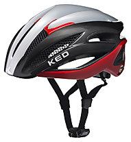 KED Wayron - Fahrradhelm Roadbike, Grey/Red