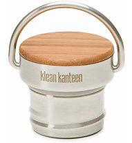 Klean Kanteen Stainless Unibody Bamboo Cap - Verschluss für Trinkflasche, Grey/Bamboo