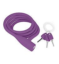 Knog Party Coil - Lucchetti per bici, Purple