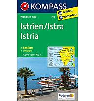 Kompass Carta N° 238 Istrien/Istra-Istria, 1:75.000