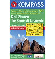 Kompass Carta N° 047 Tre Cime di Lavaredo 1:25.000, 1:25.000