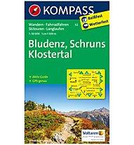 Kompass Karte Nr.32 Bludenz, Schruns, Klostertal 1:50.000, 1:50.000