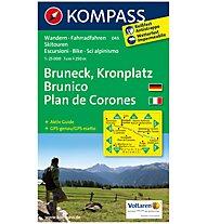 Kompass Carta N. 045 Plan de Corones, Brunico - 1:25.000, 1:25.000